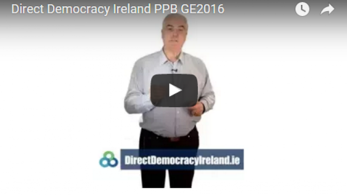 Direct Democracy Ireland Party Political Broadcast Election 2016